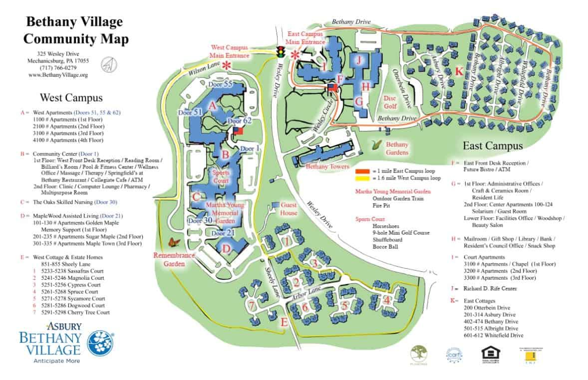 bethany village community map