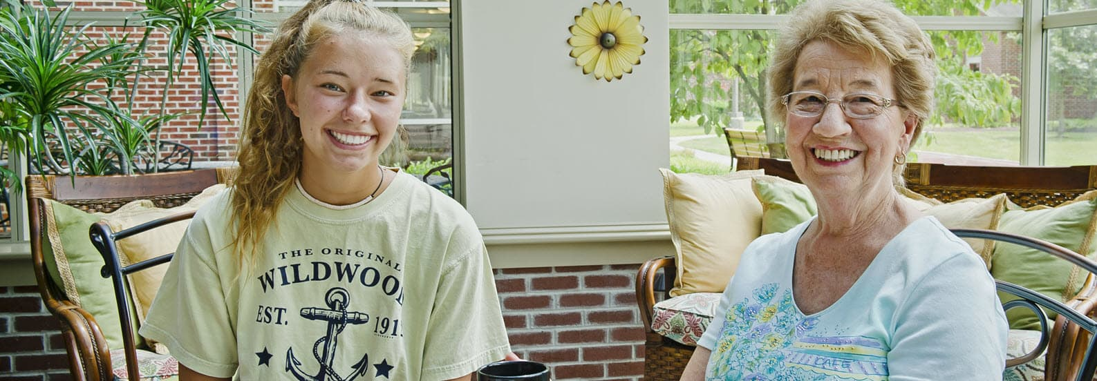 senior with grandchild