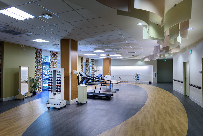 physical therapy room at Wilson Health Care Center