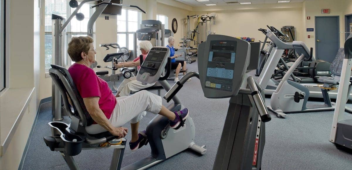 residents working out together
