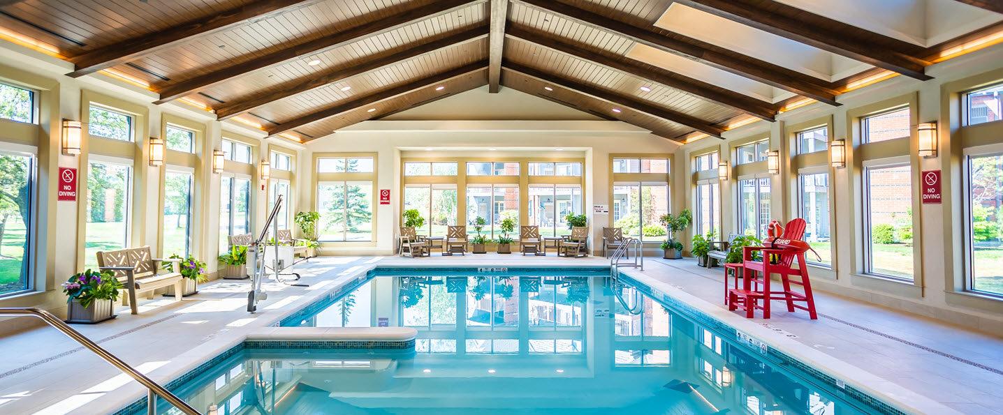indoor pool at aquatic center