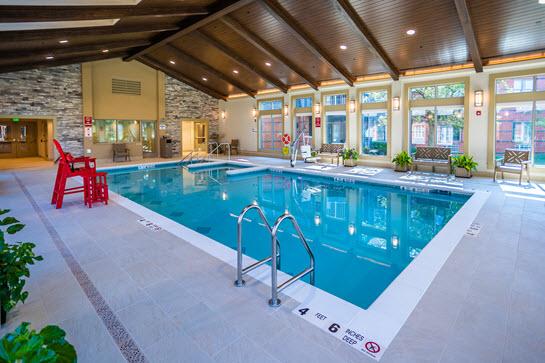 smaller pool at aquatic center