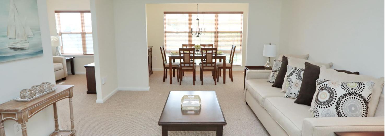 interior of a senior living apartment