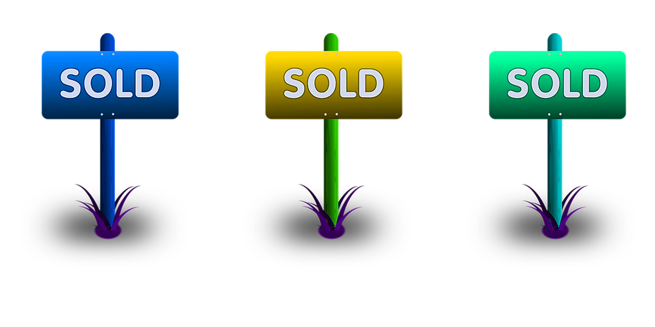 three sold signs for retirement living