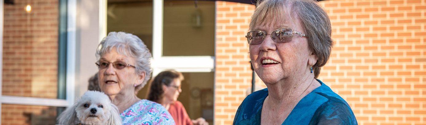 senior residents at Asbury Normandie Ridge retirement community