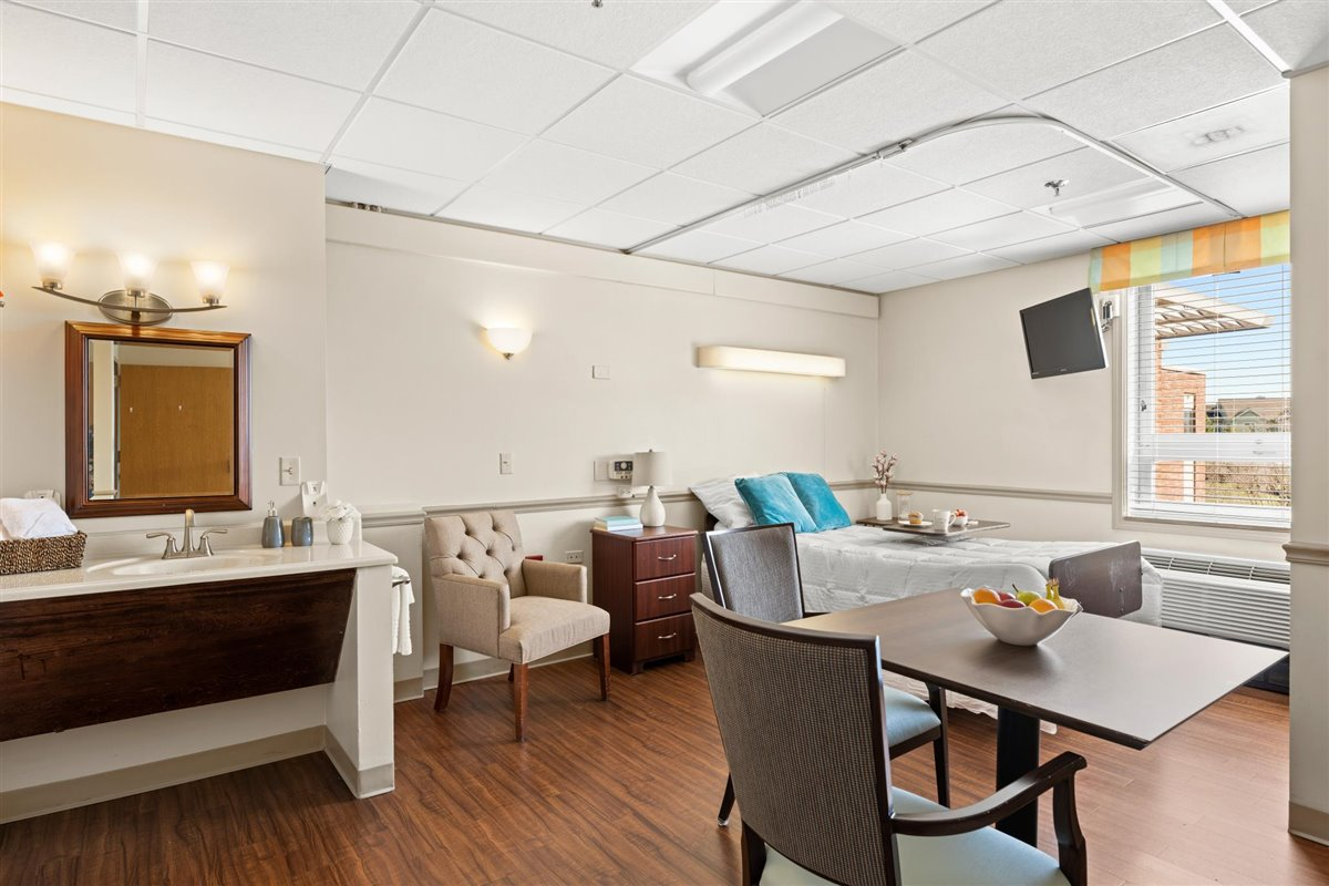 skilled nursing semi-private suite at Asbury Place Maryville