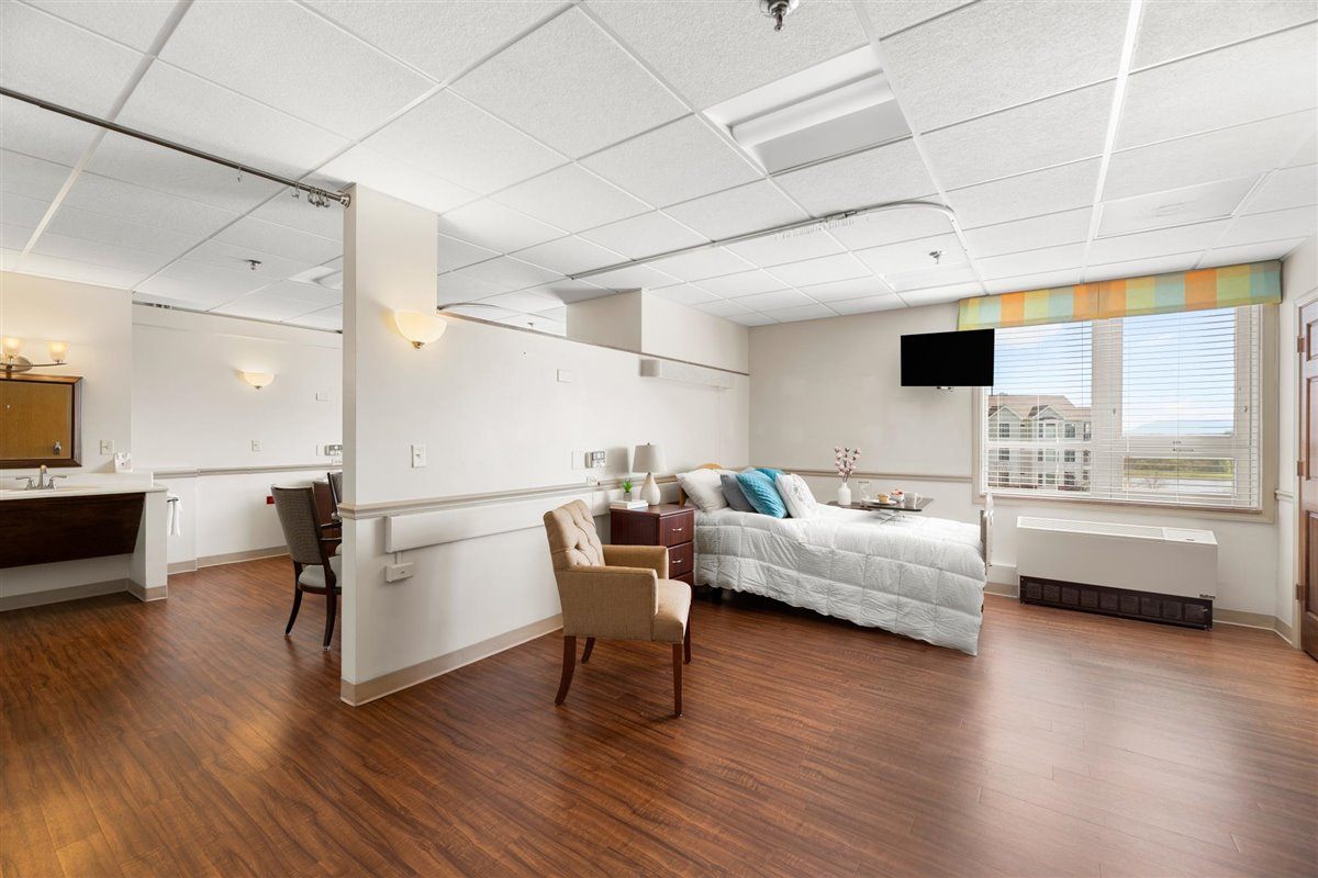 semi-private skilled nursing suite at Asbury Place Maryville