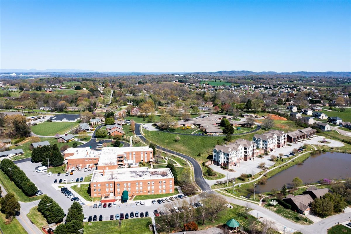 aerial view of Asbury Place Maryville retirement community in Maryville, TN