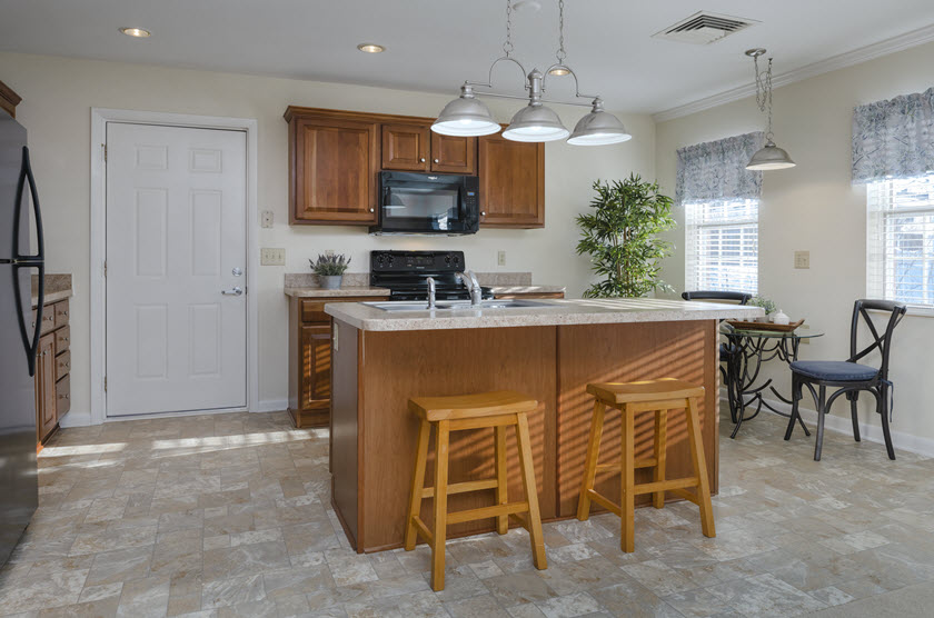 eat in kitchen area in cottage