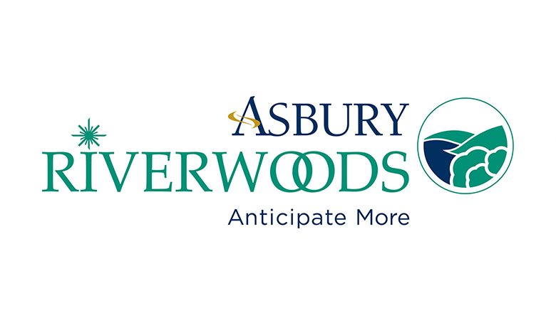 Asbury RiverWoods senior living community logo