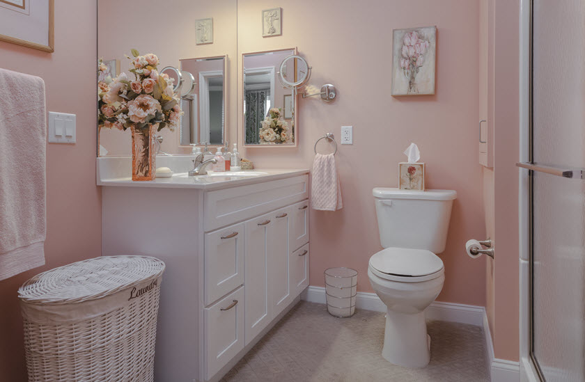 Asbury Riverwoods senior apartment bathroom