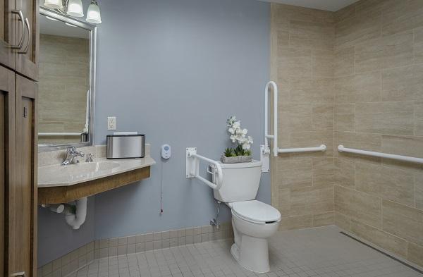 bathroom in riverwood rehabilitation center