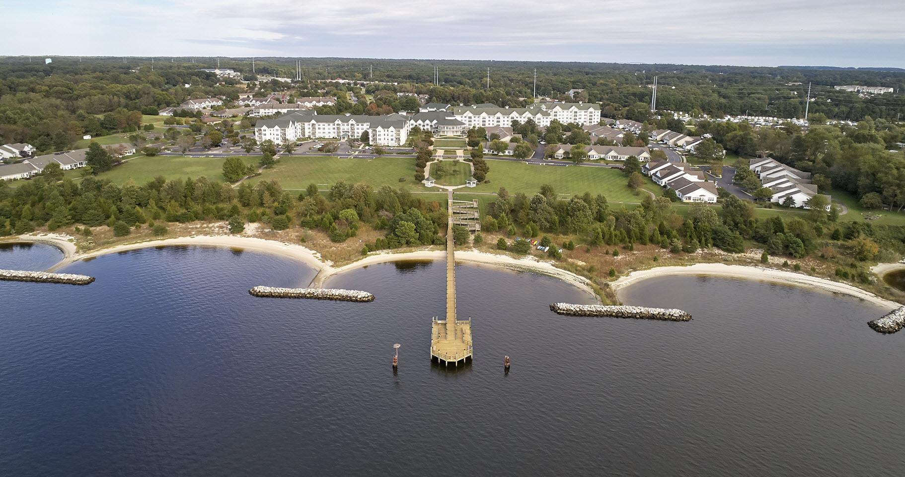 aerial view of asbury solomons